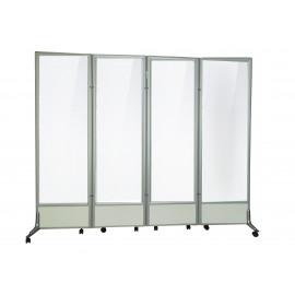 四摺鋁合金支架膠板屏風