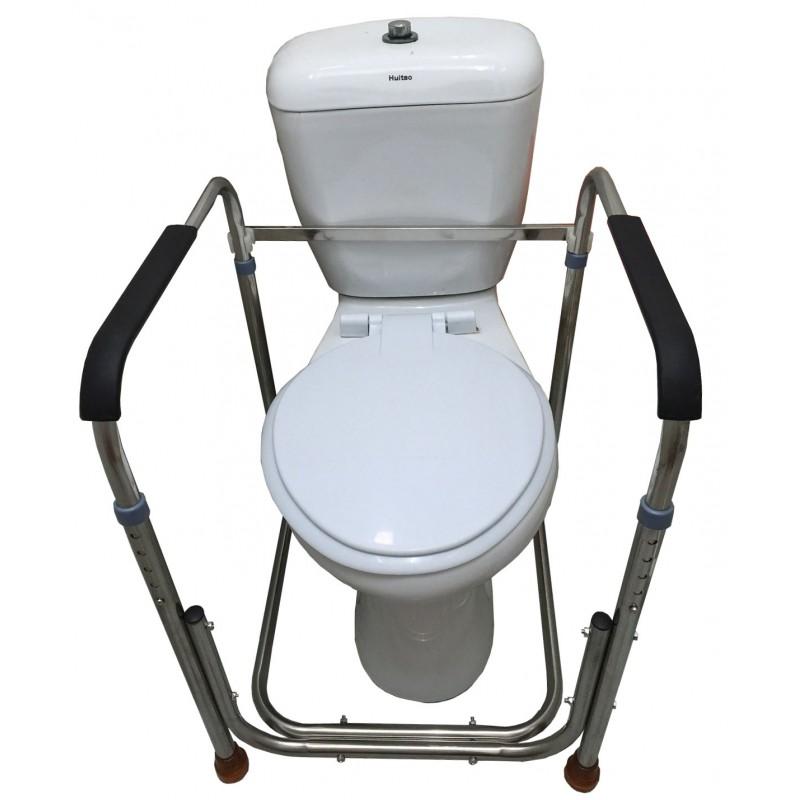 Portable toilet rails